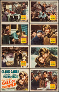"Movie Posters:Adventure, Call of the Wild (20th Century Fox, R-1943). Lobby Card Set of 8(11"" X 14""). Adventure.. ... (Total: 8 Items)"