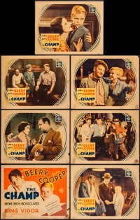 "The Champ (MGM, 1931). Title Lobby Card & Lobby Cards (6) (11"" X 14""). Drama. ... (Total: 7 Items)"