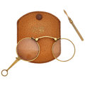 Timepieces:Other , Folding Eye Glasses & Retractable Snuff Tool. ...