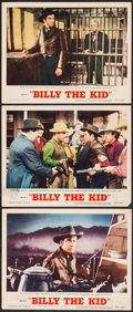 "Movie Posters:Western, Billy the Kid & Other Lot (MGM, R-1955). Lobby Cards (3) & Lobby Card Set of 8 (11"" X 14""). Western.. ... (Total: 11 Items)"