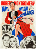 "Movie Posters:Fantasy, Here Comes Mr. Jordan (Columbia, 1941). Swedish One Sheet (35"" X47"").. ..."