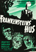 """Movie Posters:Horror, House of Frankenstein (Universal, 1944). Swedish One Sheet (27"""" X 39.25"""").. ..."""