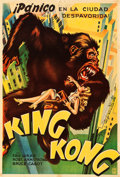 "Movie Posters:Horror, King Kong (RKO, 1933). Argentinean Poster (29.25"" X 43"").. ..."