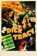 "Movie Posters:Crime, Dick Tracy (RKO, 1945). One Sheet (27"" X 41"").. ..."