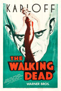 "Movie Posters:Horror, The Walking Dead (Warner Brothers, R-1942). One Sheet (27.25"" X41"").. ..."