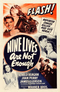 "Movie Posters:Mystery, Nine Lives Are Not Enough (Warner Brothers, 1941). One Sheet (27"" X41"").. ..."