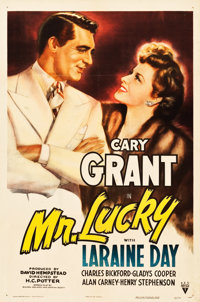 "Mr. Lucky (RKO, 1943). One Sheet (27.25"" X 40.75"")"