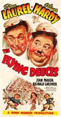 "Movie Posters:Comedy, The Flying Deuces (RKO, 1939). Three Sheet (42"" X 81"").. ..."