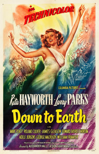 """Down to Earth (Columbia, 1947). One Sheet (27"""" X 41.5"""") Style A"""