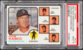 Baseball Cards:Singles (1970-Now), 1973 Topps Red Sox Mgr/Coaches, Orange Background #131 PSA Mint9....