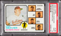 Baseball Cards:Singles (1970-Now), 1973 Topps Orioles Mgr/Coaches, Brown Background #136 PSA Mint9....