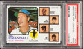 Baseball Cards:Singles (1970-Now), 1973 Topps Brewers Mgr/Coaches #646 PSA Mint 9....