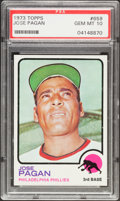Baseball Cards:Singles (1970-Now), 1973 Topps Jose Pagan #659 PSA Gem Mint 10....