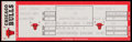 Basketball Collectibles:Others, 1986 Chicago Bulls Vs. Washington Bullets Full Ticket - MJ 31 PointGame!...