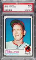 Baseball Cards:Singles (1970-Now), 1973 Topps Mike Hedlund #591 PSA Mint 9....