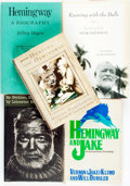 Books:Biography & Memoir, [Biography]. Group of Five about Ernest Hemingway. Various publishers and dates. One (Hemingway: A Biography) is an UNCO... (Total: 5 Items)