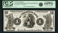 Obsoletes By State:Minnesota, La Crescent, MN - La Crescent Bank $1 July 16, 1859 MN-55 G2,Hewitt B220-D1. Proof. PCGS Very Choice New 64 PPQ.. ...