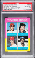 Baseball Cards:Singles (1970-Now), 1975 Topps Mini Rookie Pitchers #624 PSA Gem Mint 10 - Pop One....