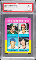Baseball Cards:Singles (1970-Now), 1975 Topps Mini Rookie Infielders Keith Hernandez #623 PSA Mint 9....
