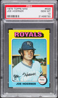 Baseball Cards:Singles (1970-Now), 1975 Topps Mini Joe Hoerner #629 PSA Gem Mint 10 - Pop Four....