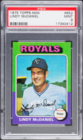 Baseball Cards:Singles (1970-Now), 1975 Topps Mini Lindy McDaniel #652 PSA Mint 9....