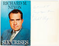 Books:Biography & Memoir, [Featured Lot]. Richard M. Nixon. INSCRIBED. Six Crises. Garden City: Doubleday & Company, 1962. Stated first ed...