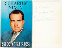 [Featured Lot]. Richard M. Nixon. INSCRIBED. Six Crises. Garden City: Doubleday & Co