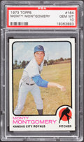 Baseball Cards:Singles (1970-Now), 1973 Topps Monty Montgomery #164 PSA Gem Mint 10....