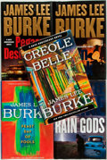 Books:Mystery & Detective Fiction, [James Lee Burke]. Group of Five SIGNED/INSCRIBED First Editions.Simon & Schuster, [various dates]. Signed and inscribed ...(Total: 5 Items)