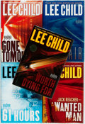 Books:Mystery & Detective Fiction, [Lee Child]. Group of Five SIGNED Jack Reacher Novels. NewYork: Delacorte Press, [various dates]. Signed by t... (Total: 5Items)