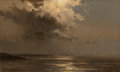 Fine Art - Painting, American:Antique  (Pre 1900), Mauritz Frederick Hendrick De Haas (American, 1832-1895).Moonlight Clouds and Sea. Oil on canvas. 14-1/4 x 23-1/4inche...