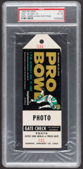 Football Collectibles:Tickets, 1969 NFL Pro Bowl Press Pass....