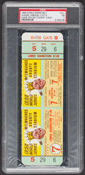 Baseball Collectibles:Tickets, 1958 World Series Game 7 Full Ticket, PSA NM 7....