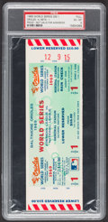 Baseball Collectibles:Tickets, 1969 World Series Game 1 Full Proof Ticket, PSA EX-MT 6....