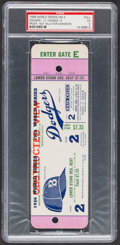 Baseball Collectibles:Tickets, 1956 World Series Game 2 Full Proof Ticket, PSA EX 5....