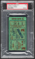 Baseball Collectibles:Tickets, 1952 World Series Game 2 Ticket Stub, PSA VG 3....