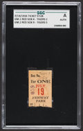 Baseball Collectibles:Tickets, 1916 Boston Red Sox vs. Detroit Tigers Ticket Stub, SGCAuthentic....