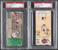 Baseball Collectibles:Tickets, 1969 World Series Game 4 & NLCS Game 3 Ticket Stubs, PSA VG 3& Fair 1.5, Lot of 2....