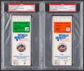 Baseball Collectibles:Tickets, 1986 World Series Games 2 & 7 Ticket Stubs, PSA Poor 1 &Authentic....