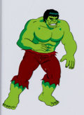 Animation Art:Production Cel, Incredible Hulk Production Cel (Marvel, c. 1990)....