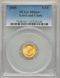 Commemorative Gold, 1905 G$1 Lewis and Clark MS64+ PCGS....