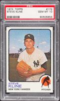 Baseball Cards:Singles (1970-Now), 1973 Topps Steve Kline #172 PSA Gem Mint 10....