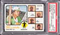 Baseball Cards:Singles (1970-Now), 1973 Topps A's Mgr./Coaches, Hoscheit Left Ear Showing #179 PSA GemMint 10 - Pop Two....
