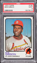 Baseball Cards:Singles (1970-Now), 1973 Topps Bob Gibson #190 PSA Mint 9....