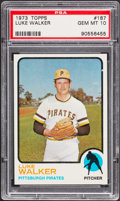 Baseball Cards:Singles (1970-Now), 1973 Topps Luke Walker #187 PSA Gem Mint 10....