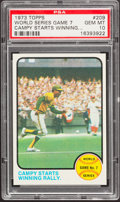 Baseball Cards:Singles (1970-Now), 1973 Topps World Series Game 7 #209 PSA Gem Mint 10 - Pop Three....