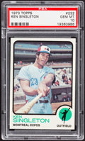 Baseball Cards:Singles (1970-Now), 1973 Topps Ken Singleton #232 PSA Gem Mint 10 - Pop Four....