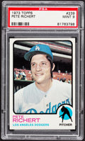 Baseball Cards:Singles (1970-Now), 1973 Topps Pete Richert #239 PSA Mint 9....