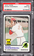 Baseball Cards:Singles (1970-Now), 1973 Topps Dwain Anderson #241 PSA Gem Mint 10 - Pop Four....