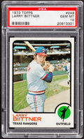 Baseball Cards:Singles (1970-Now), 1973 Topps Larry Biittner #249 PSA Gem Mint 10 - Pop Four....